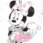 Minnie Watercolor - Disney Minnie Mouse